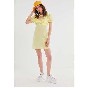 UO Winnie Tie-front Cutout Mini Dress